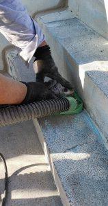 群馬県 小学校プール 床、壁塗膜撤去3 株式会社タナカペインティング-田中塗り床工業-