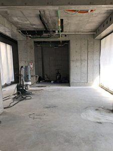 テナント改修工事HTCスーパーフロア(鏡面研磨仕上げ)3 - タナカペインティング-田中塗り床工業-