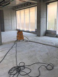 テナント改修工事HTCスーパーフロア(鏡面研磨仕上げ)4 - タナカペインティング-田中塗り床工業-