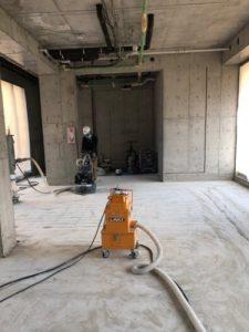 テナント改修工事HTCスーパーフロア(鏡面研磨仕上げ)5 - タナカペインティング-田中塗り床工業-