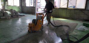 塗り床改修工事1 - 既存塗膜撤去 タナカペインティング-田中塗り床工業-