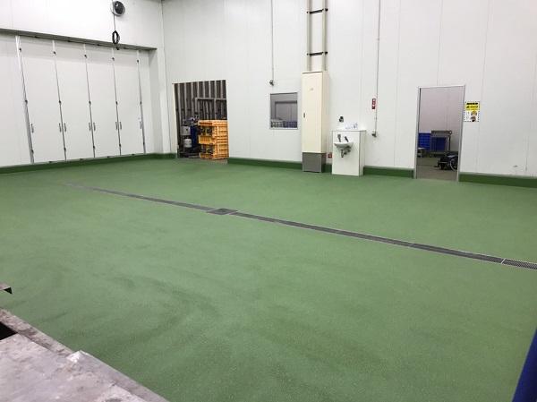 食品工場塗床改修工事 - 群馬県
