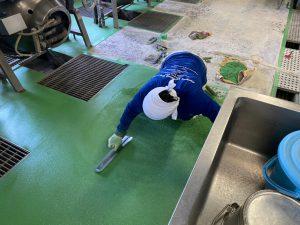 小学校厨房床改修工事 – 神奈川県川崎市