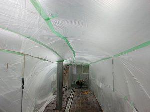 下地処理時の養生3 -田中塗り床工業-
