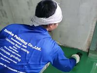 タナカペインティング 外国人技能実習生 塗床施工風景