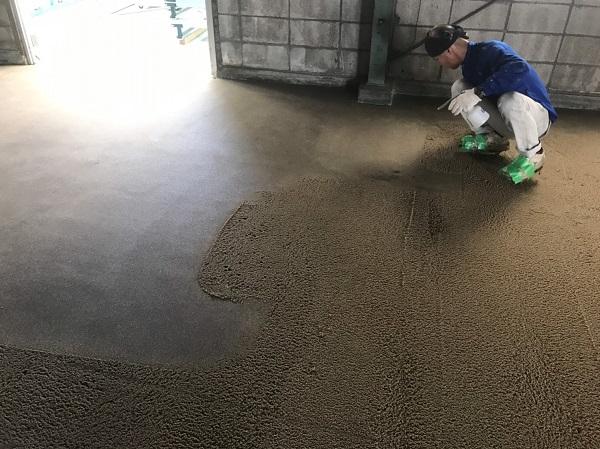 株式会社タナカペインティング-田中塗り床工業-塗床施工事例-下地処理2